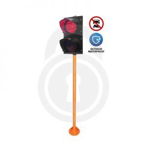 LED-Light Sign + Pole